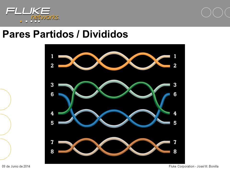09 de Junio de 2014Fluke Corporation - José M. Bonilla Pares Partidos / Divididos Caudado por conectar cables de diferentes pares en pines pareados Pr