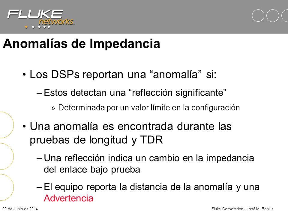 09 de Junio de 2014Fluke Corporation - José M. Bonilla Resultados en los DSPs