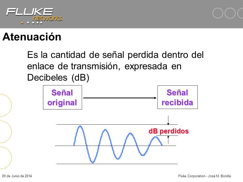 09 de Junio de 2014Fluke Corporation - José M. Bonilla Sistema tradicional de 2 pares Transmit (Output) Receive (Input) Workstation Transmit (Output)