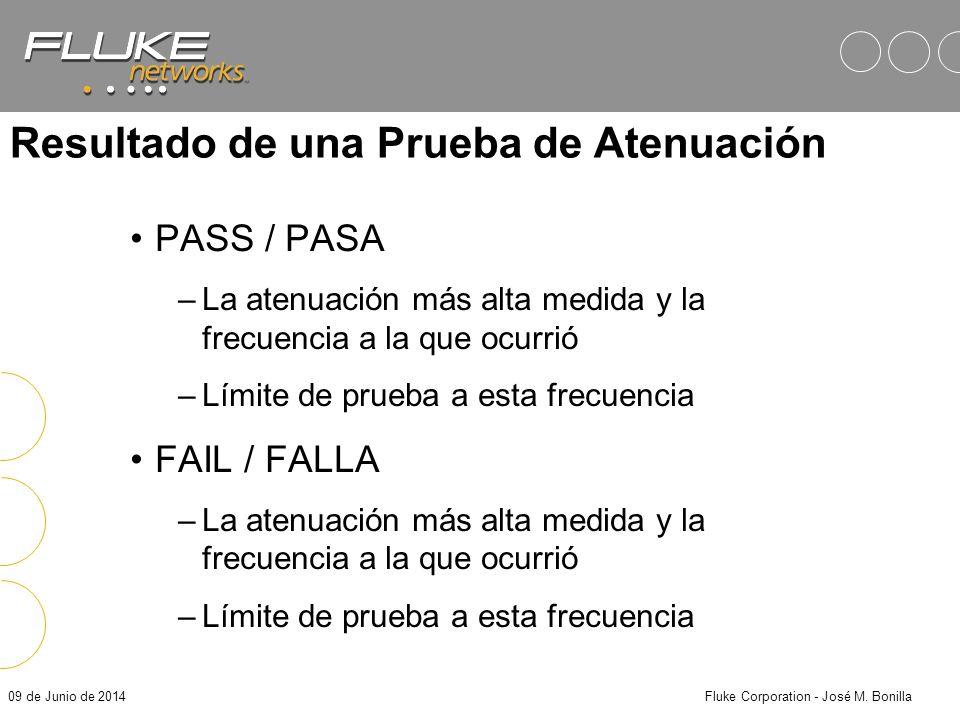 09 de Junio de 2014Fluke Corporation - José M. Bonilla Atenuación como una Función de la Frecuencia