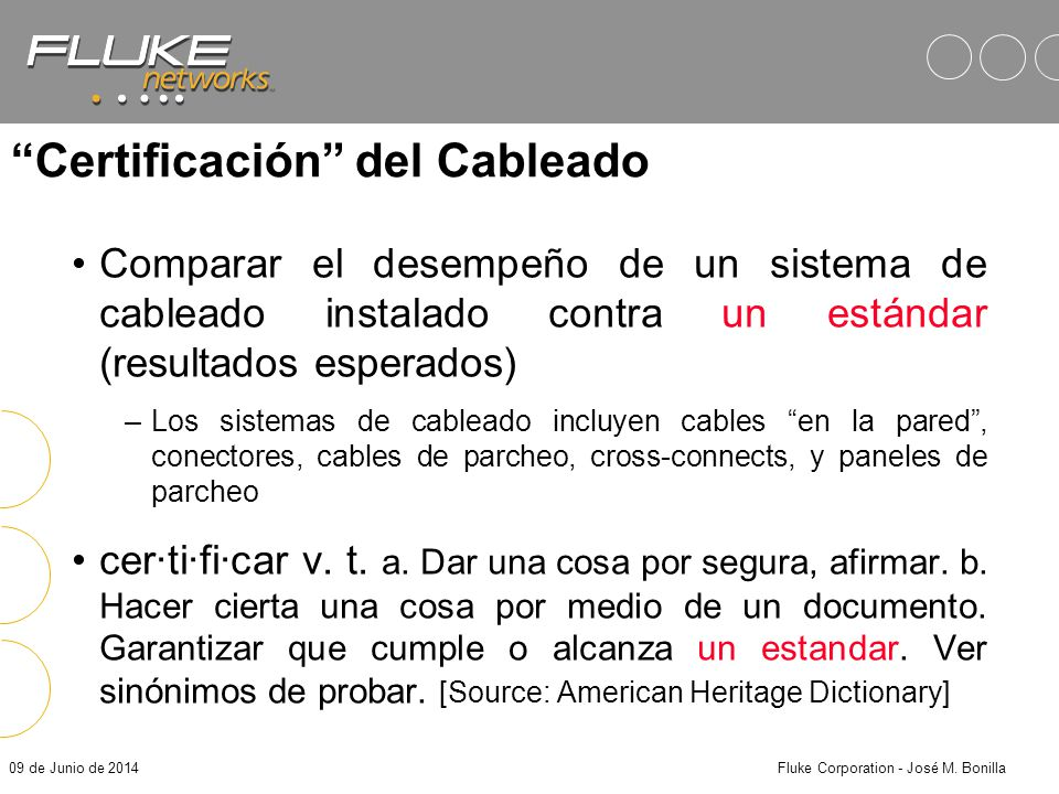 09 de Junio de 2014Fluke Corporation - José M.