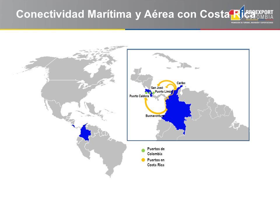 Conectividad Marítima y Aérea con Costa Rica Puertos en Costa Rica Puertos de Colombia