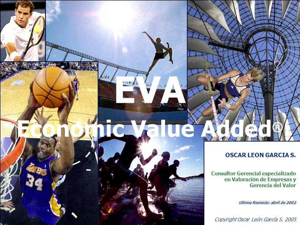 37 Copyright Oscar León García S. 2005 EVA Economic Value Added ® OSCAR LEON GARCIA S. Consultor Gerencial especializado en Valoración de Empresas y G