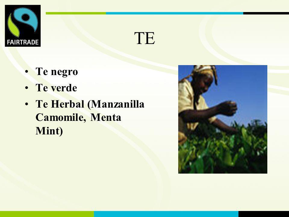 FLO International TE Te negro Te verde Te Herbal (Manzanilla Camomile, Menta Mint)