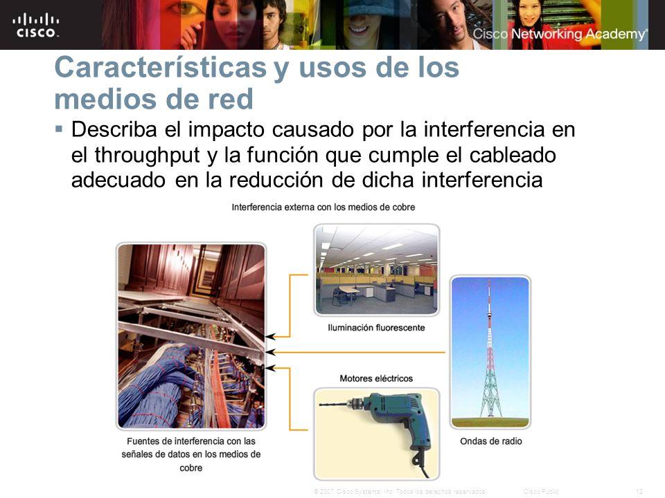 12© 2007 Cisco Systems, Inc. Todos los derechos reservados.Cisco Public Describa el impacto causado por la interferencia en el throughput y la función