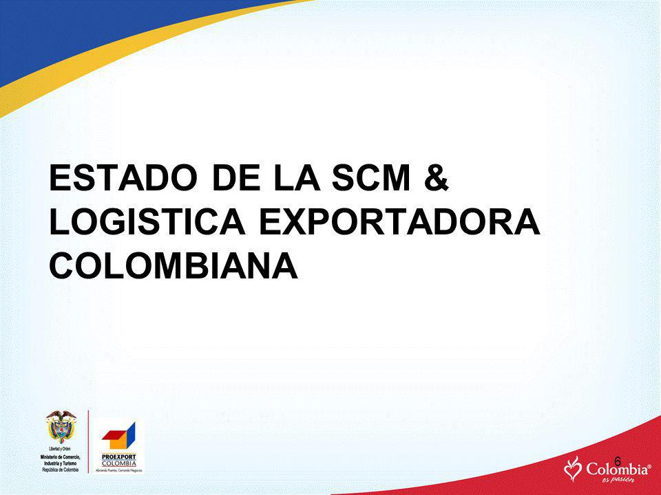 ESTADO DE LA SCM & LOGISTICA EXPORTADORA COLOMBIANA 6