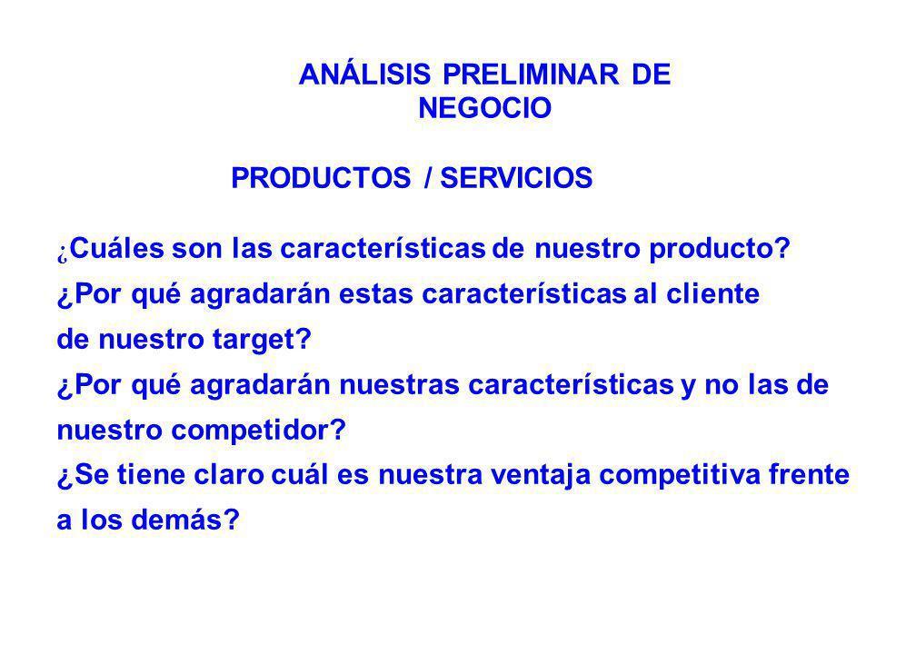 PRODUCTOS / SERVICIOS ¿ Cuáles son las características de nuestro producto.