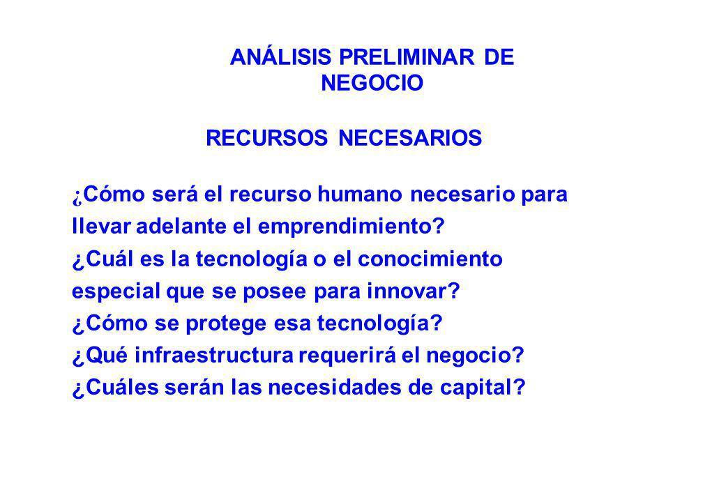 ASPECTOS ECONÓMICOS Y FINANCIEROS DE LA PROPUESTA DE NEGOCIO ¿ Cuál es la necesidad de inversión de capital.