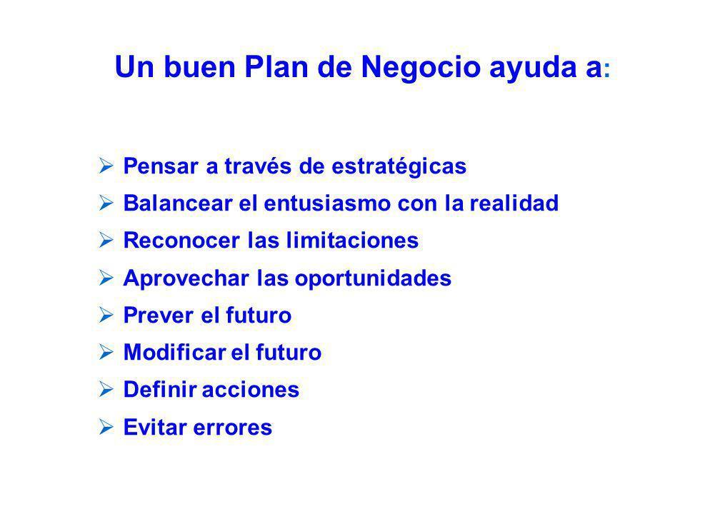 Objetivos de un Plan de Negocio realista y completo Diseñar el plano del negocio.