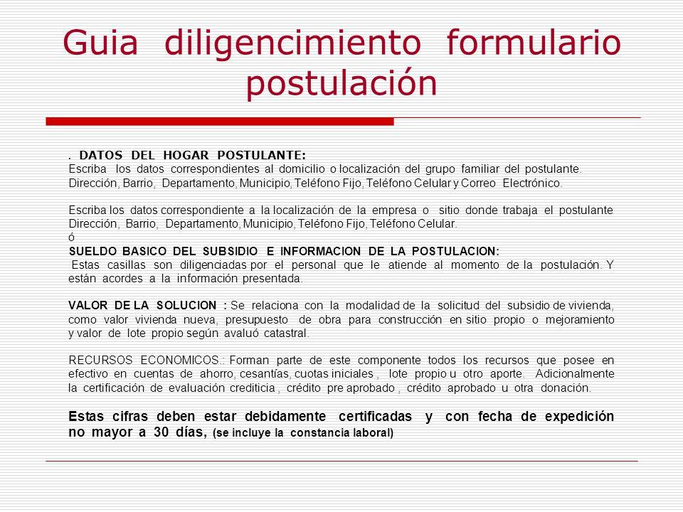 Guia diligencimiento formulario postulación.