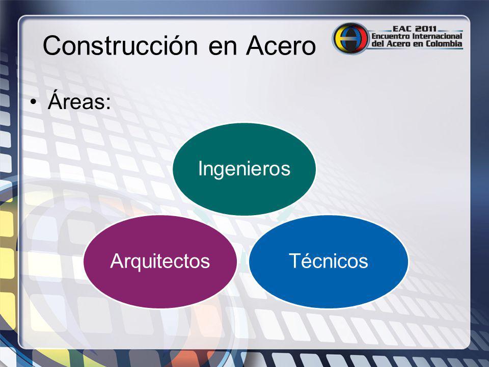 Construcción en Acero Áreas: IngenierosTécnicosArquitectos