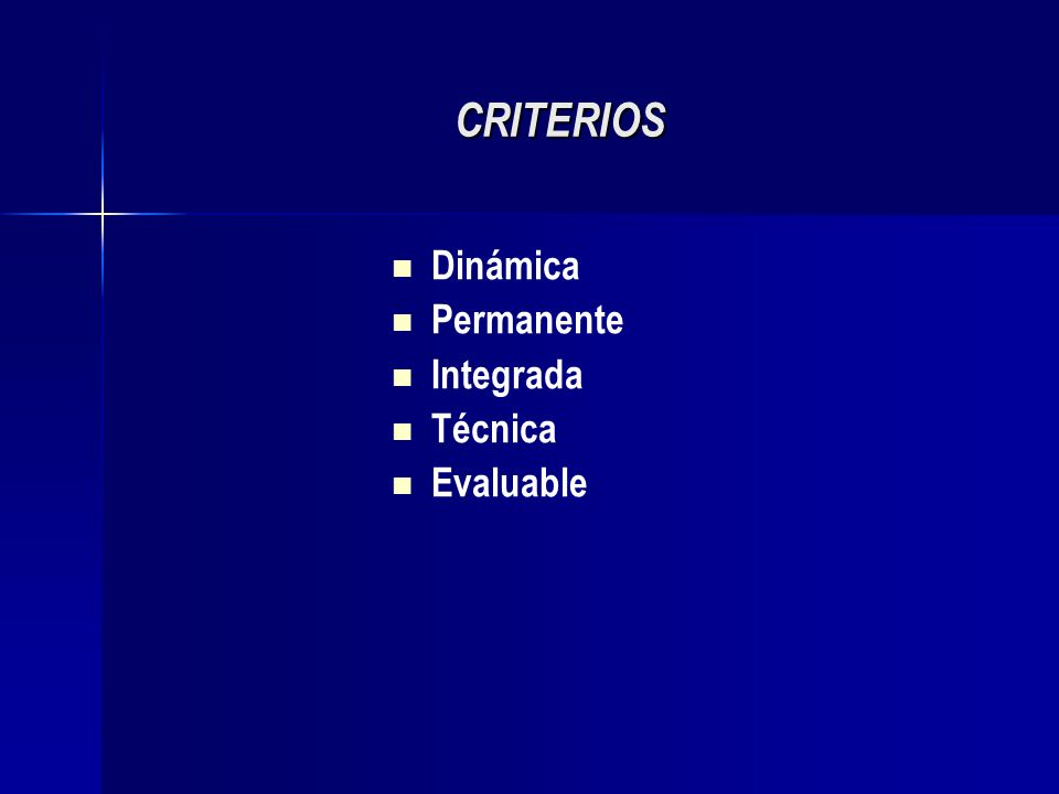 CRITERIOS Dinámica Permanente Integrada Técnica Evaluable