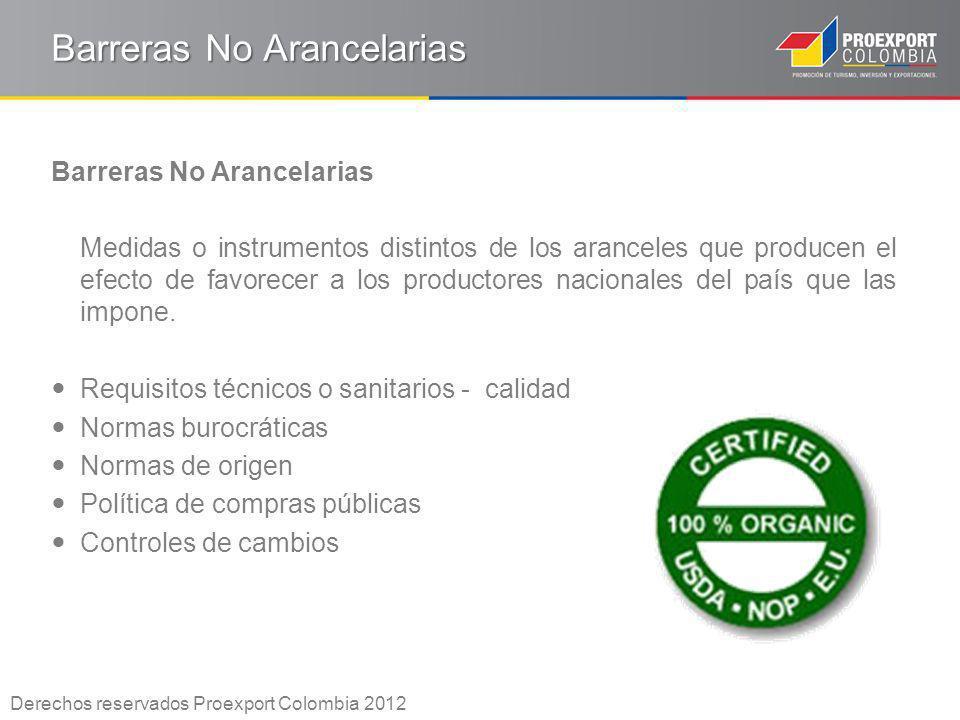 Barreras No Arancelarias Medidas o instrumentos distintos de los aranceles que producen el efecto de favorecer a los productores nacionales del país q