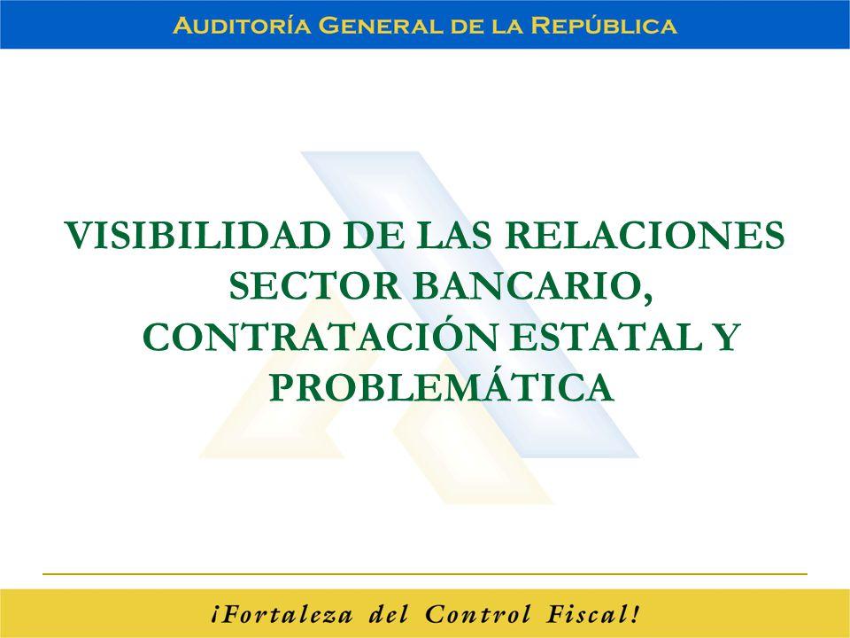 VISIBILIDAD DE LAS RELACIONES SECTOR BANCARIO, CONTRATACIÓN ESTATAL Y PROBLEMÁTICA