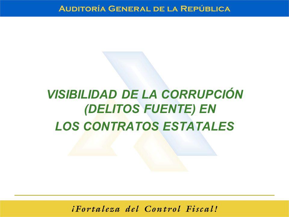 VISIBILIDAD DE LA CORRUPCIÓN (DELITOS FUENTE) EN LOS CONTRATOS ESTATALES