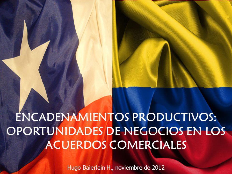 ENCADENAMIENTOS PRODUCTIVOS: OPORTUNIDADES DE NEGOCIOS EN LOS ACUERDOS COMERCIALES Hugo Baierlein H., noviembre de 2012