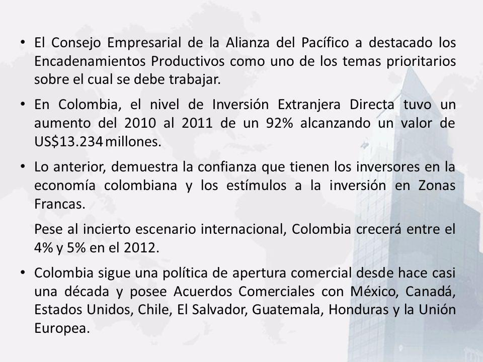 El documento preparado por PROEXPORT sobre los Encadenamientos Productivos, con los 10 casos seleccionados preliminarmente, contiene elementos importantes que se deben tener presente: 1.Se eligió un país proveedor de insumos (Ecuador) que desarrollará sus procesos en Colombia.