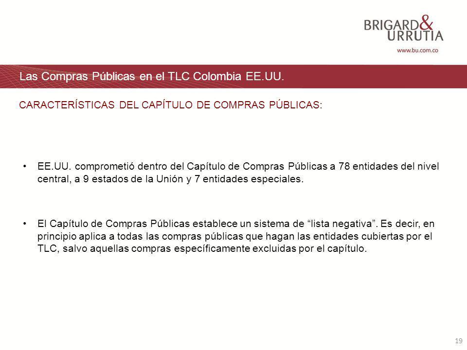 19 Las Compras Públicas en el TLC Colombia EE.UU. EE.UU.