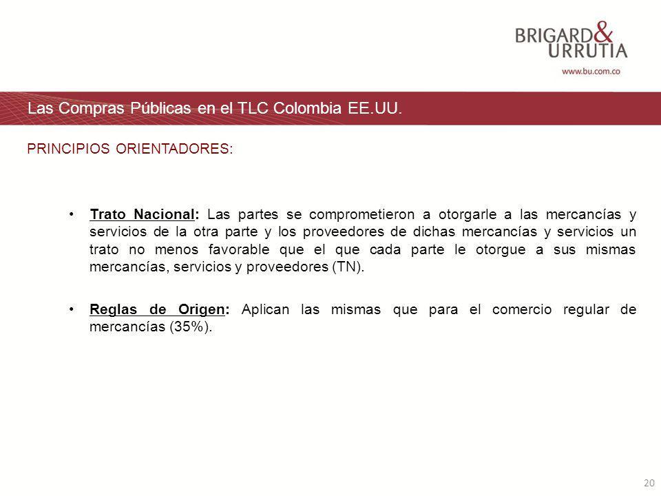20 Las Compras Públicas en el TLC Colombia EE.UU.