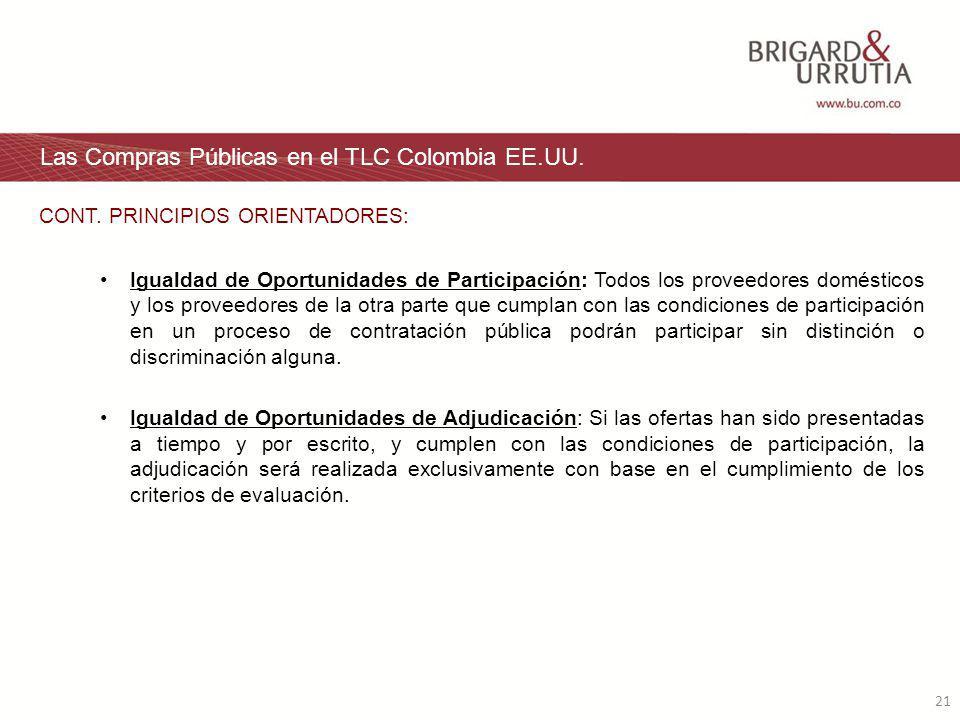 21 Las Compras Públicas en el TLC Colombia EE.UU.