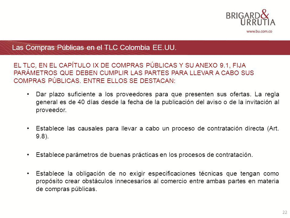 22 Las Compras Públicas en el TLC Colombia EE.UU.