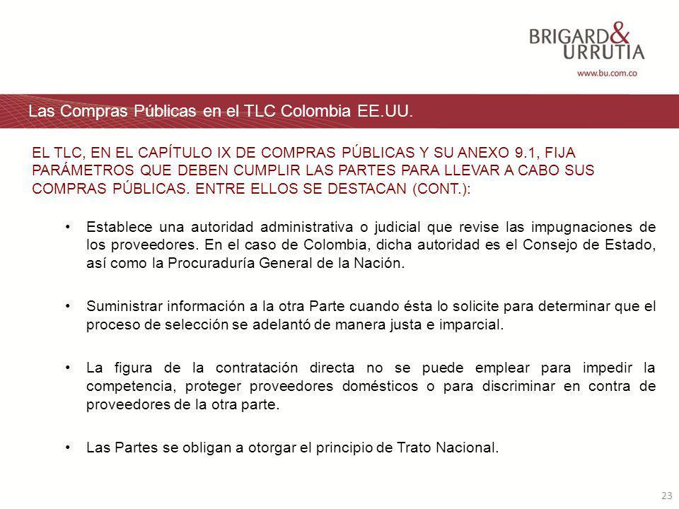23 Las Compras Públicas en el TLC Colombia EE.UU.