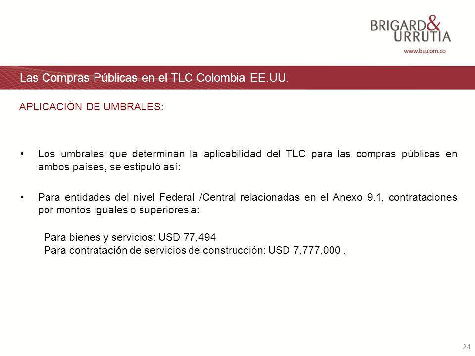 24 Las Compras Públicas en el TLC Colombia EE.UU.