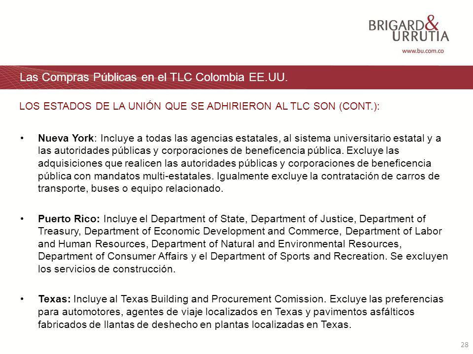 28 Las Compras Públicas en el TLC Colombia EE.UU.