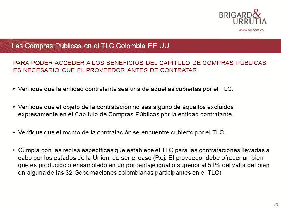 29 Las Compras Públicas en el TLC Colombia EE.UU.