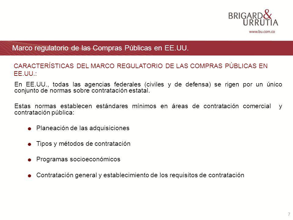7 Marco regulatorio de las Compras Públicas en EE.UU.
