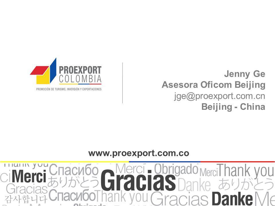Jenny Ge Asesora Oficom Beijing jge@proexport.com.cn Beijing - China www.proexport.com.co
