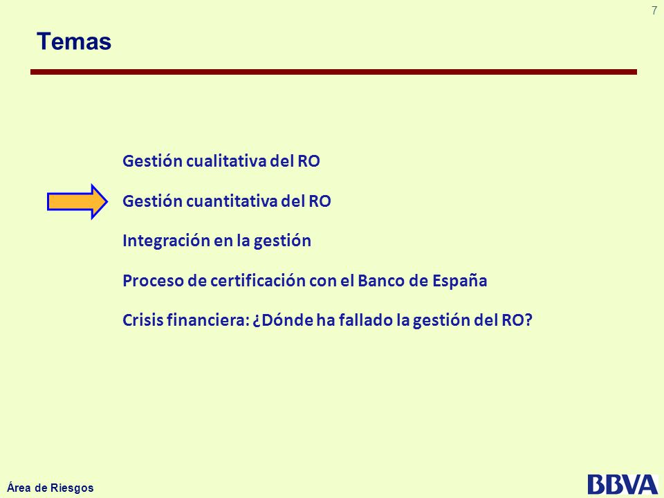 18 Área de Riesgos Método común a bancos que deben cumplir con SOX Taxonomía del Banco Modelo de Control Interno para RO Sujeto a revisión por parte de Auditoría
