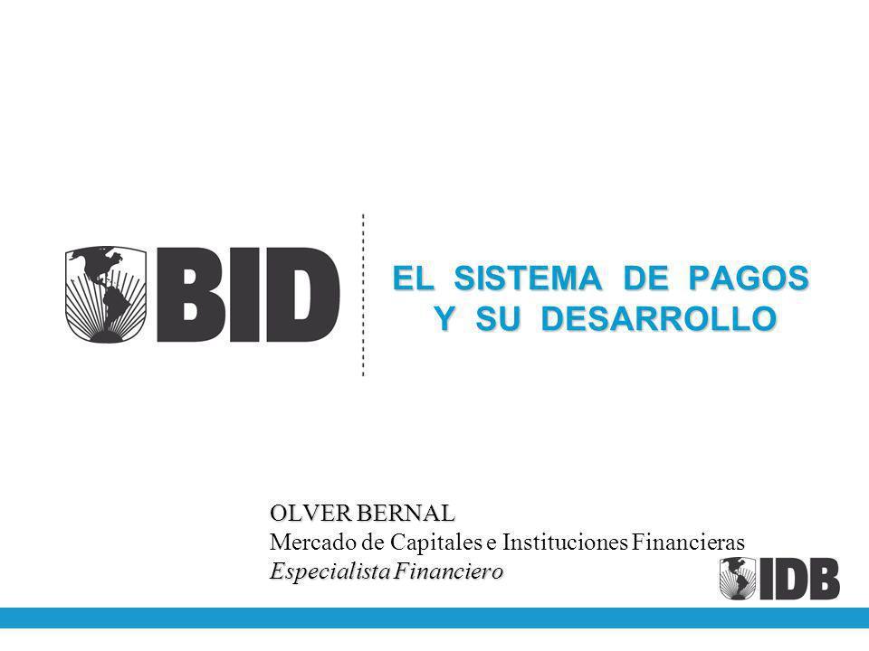 EL SISTEMA DE PAGOS Y SU DESARROLLO OLVER BERNAL Mercado de Capitales e Instituciones Financieras Especialista Financiero