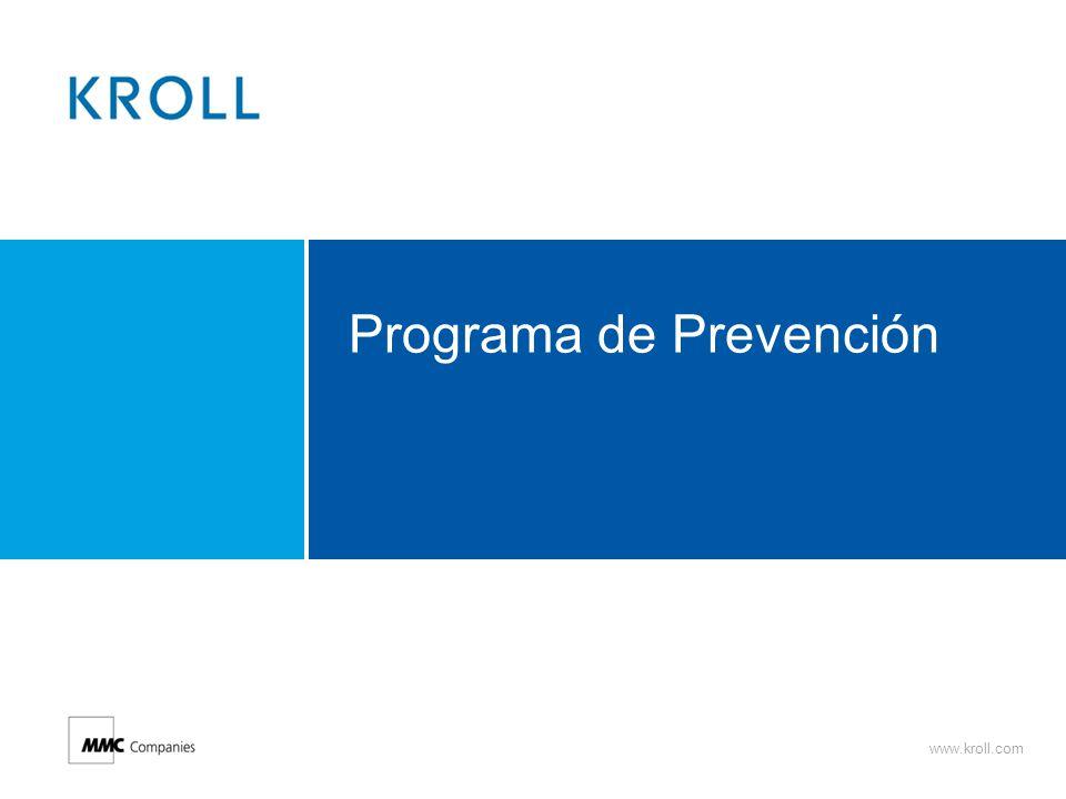 www.kroll.com Programa de Prevención