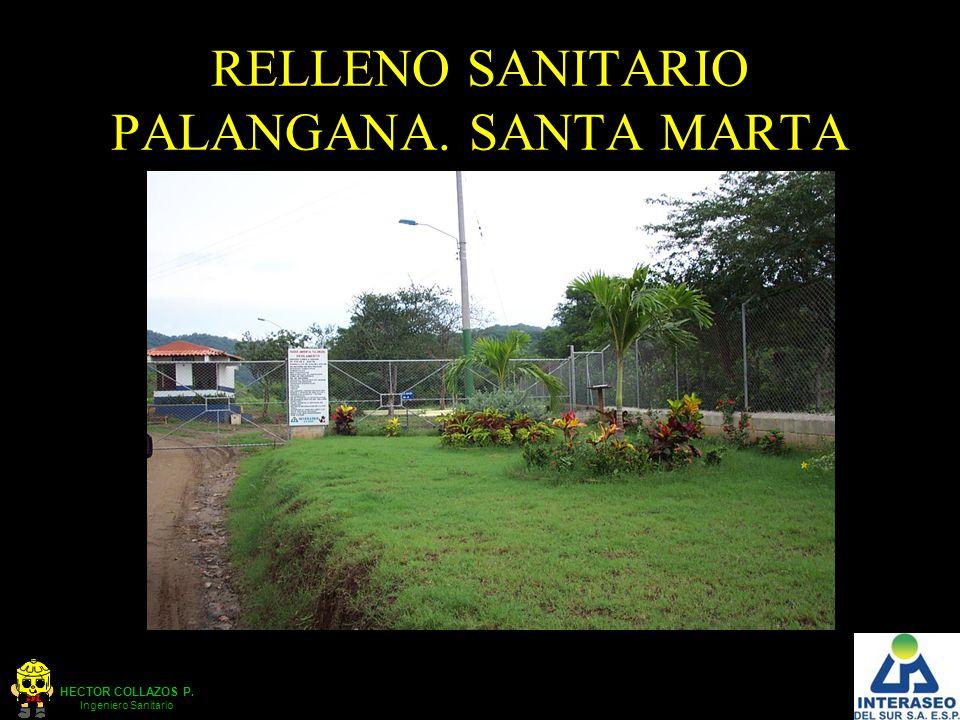 HECTOR COLLAZOS P. Ingeniero Sanitario RELLENO SANITARIO PALANGANA. SANTA MARTA