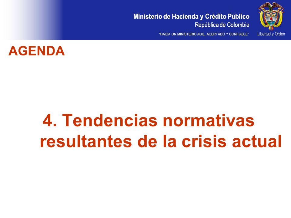 Ministerio de Hacienda y Crédito Público República de Colombia HACIA UN MINISTERIO AGIL, ACERTADO Y CONFIABLE 4. Tendencias normativas resultantes de