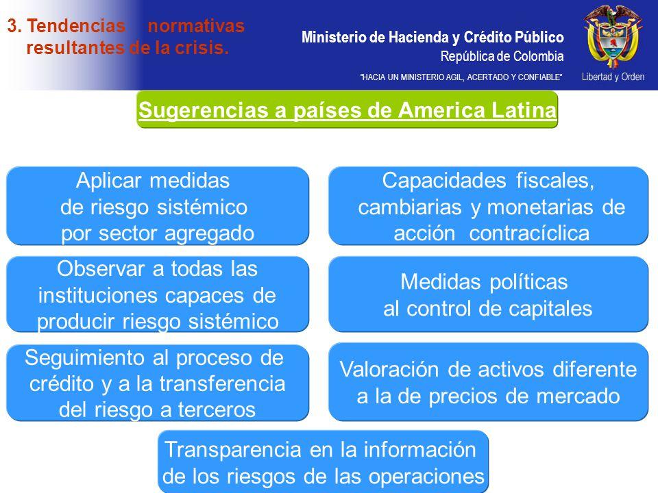 Ministerio de Hacienda y Crédito Público República de Colombia HACIA UN MINISTERIO AGIL, ACERTADO Y CONFIABLE Sugerencias a países de America Latina 3