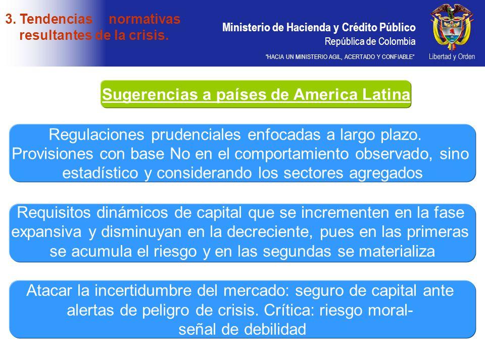 Ministerio de Hacienda y Crédito Público República de Colombia HACIA UN MINISTERIO AGIL, ACERTADO Y CONFIABLE Sugerencias a países de America Latina R