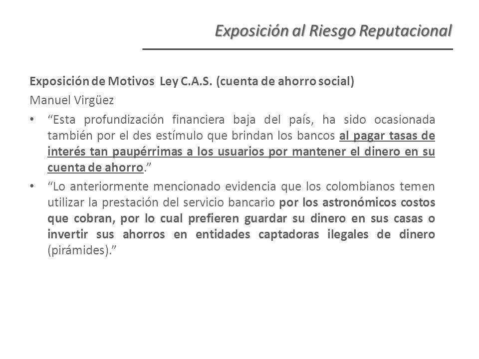 Exposición de Motivos Ley C.A.S.