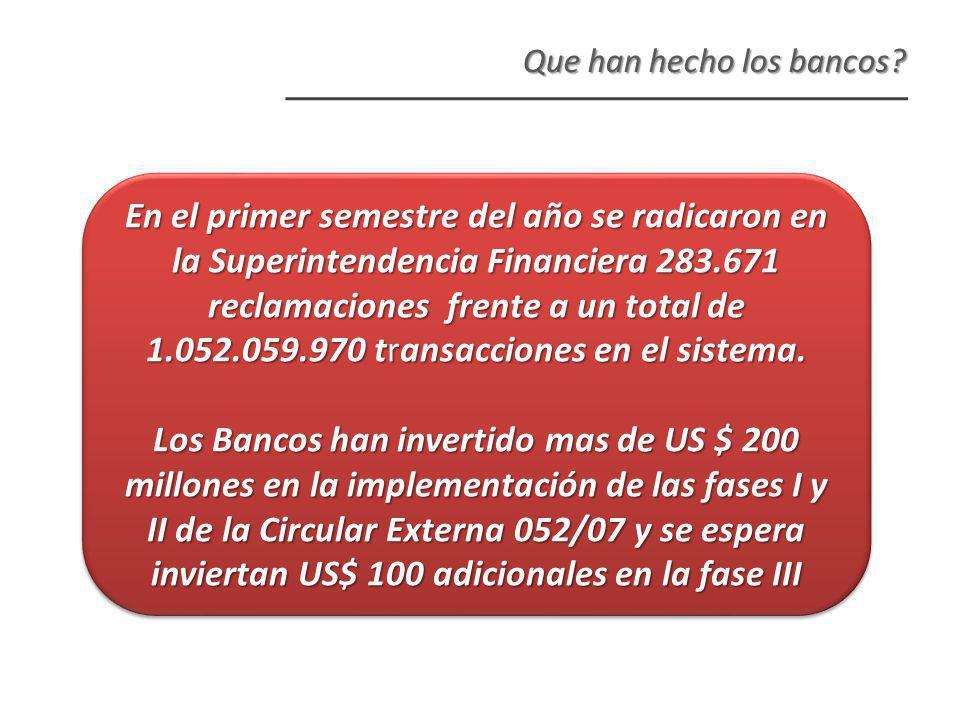 Que han hecho los bancos.