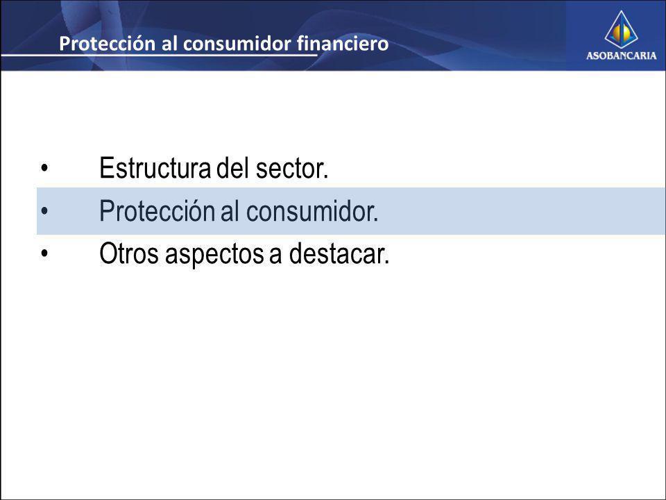 Estructura del sector. Protección al consumidor. Otros aspectos a destacar.