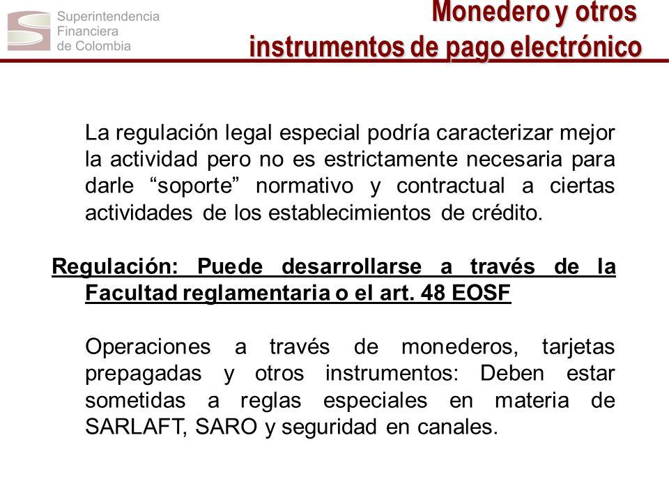 La regulación legal especial podría caracterizar mejor la actividad pero no es estrictamente necesaria para darle soporte normativo y contractual a ci