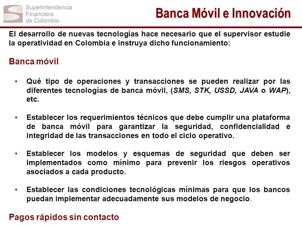 El desarrollo de nuevas tecnologías hace necesario que el supervisor estudie la operatividad en Colombia e instruya dicho funcionamiento: Banca móvil