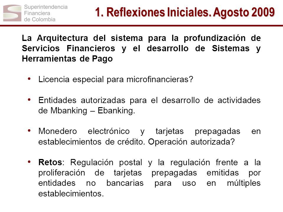 La Arquitectura del sistema para la profundización de Servicios Financieros y el desarrollo de Sistemas y Herramientas de Pago Licencia especial para