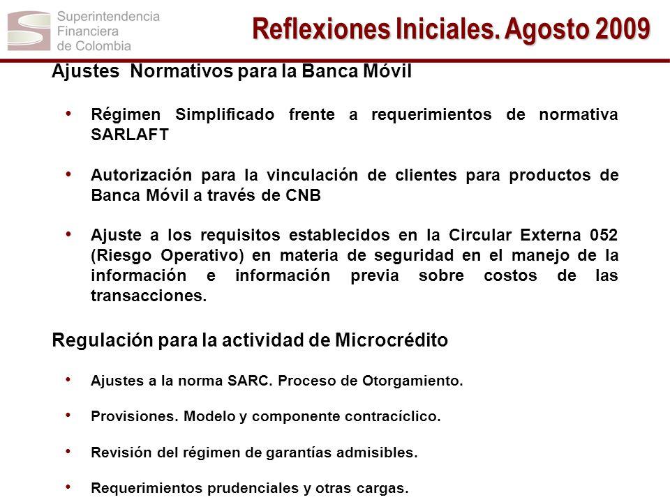 Ajustes Normativos para la Banca Móvil Régimen Simplificado frente a requerimientos de normativa SARLAFT Autorización para la vinculación de clientes