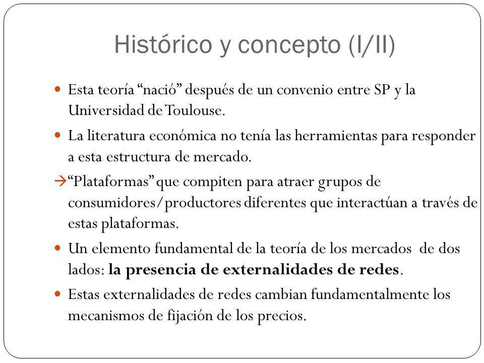 Histórico y concepto (I/II) Esta teoría nació después de un convenio entre SP y la Universidad de Toulouse. La literatura económica no tenía las herra