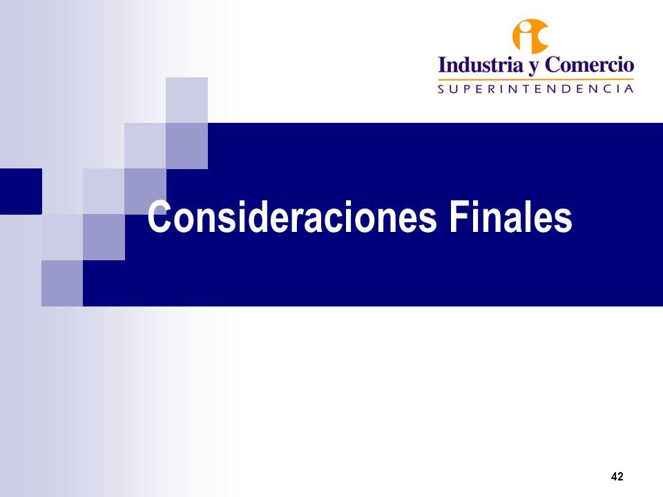 Consideraciones Finales 42