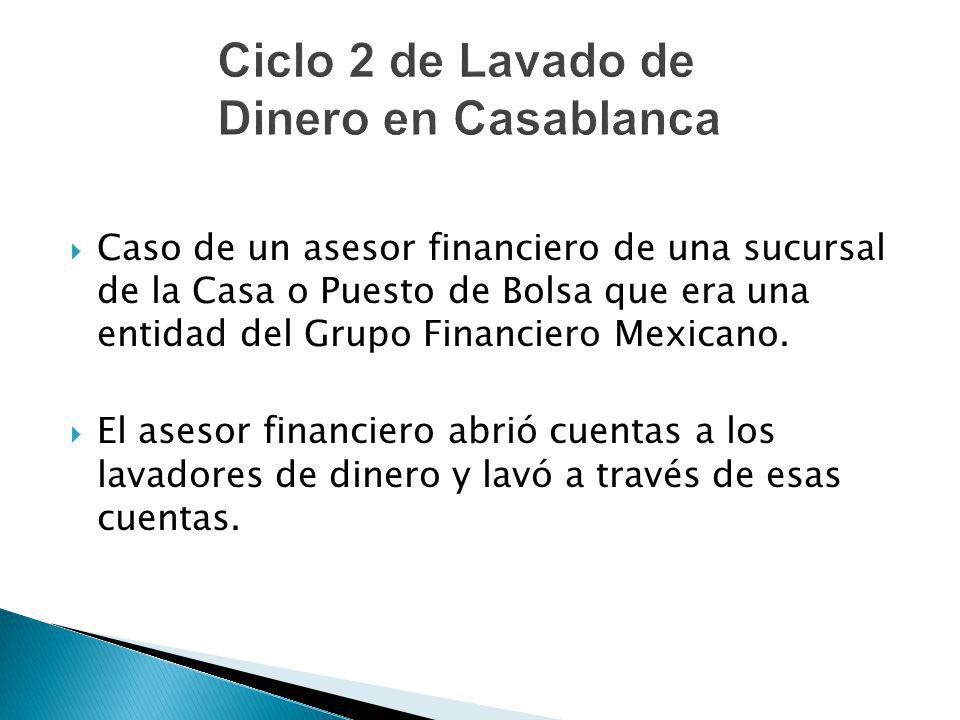 Caso de un asesor financiero de una sucursal de la Casa o Puesto de Bolsa que era una entidad del Grupo Financiero Mexicano. El asesor financiero abri