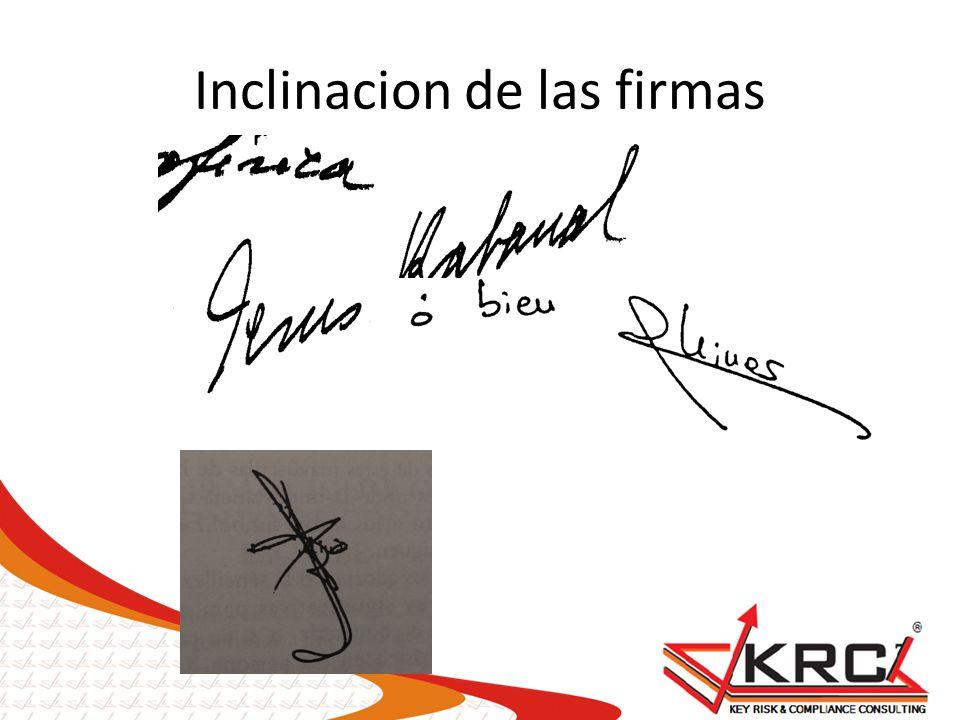 Inclinacion de las firmas