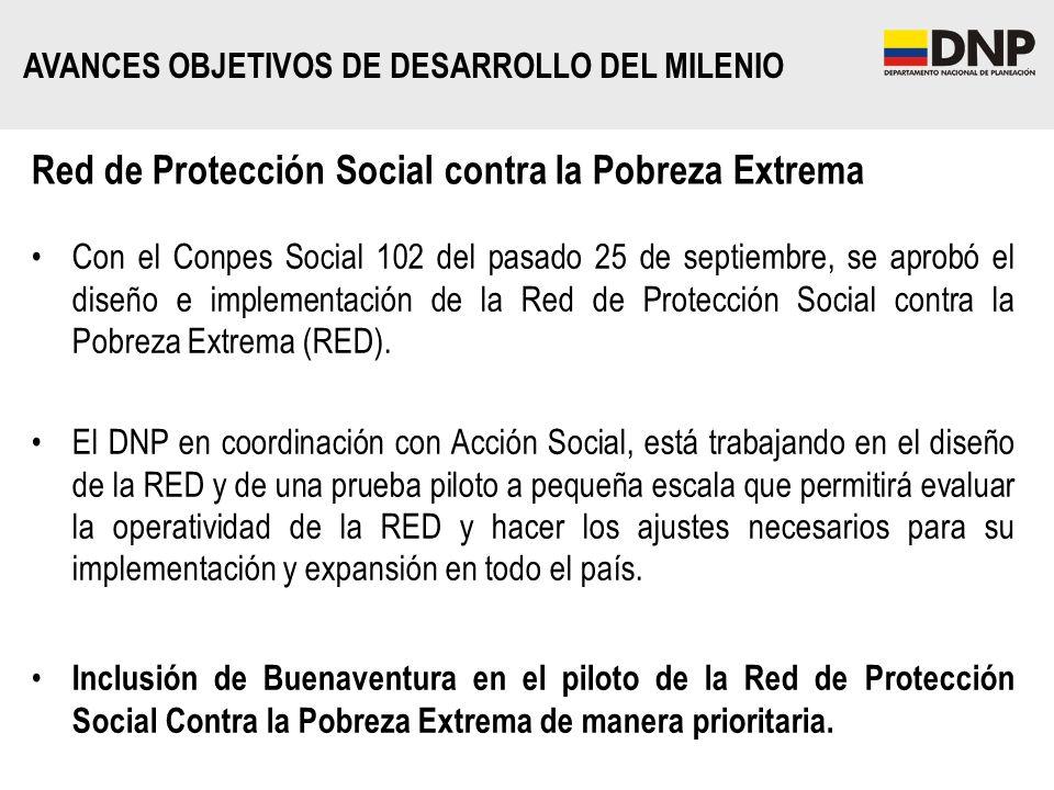Red de Protección Social contra la Pobreza Extrema Con el Conpes Social 102 del pasado 25 de septiembre, se aprobó el diseño e implementación de la Re
